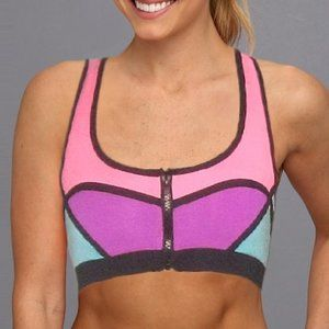 Other - Color Block Zip Up Workout Bra Top Apparel